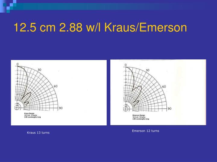 12.5 cm 2.88 w/l Kraus/Emerson
