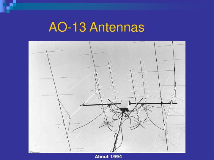 AO-13 Antennas
