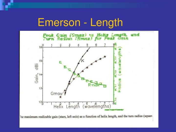 Emerson - Length
