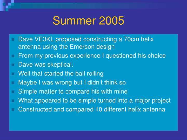 Summer 2005