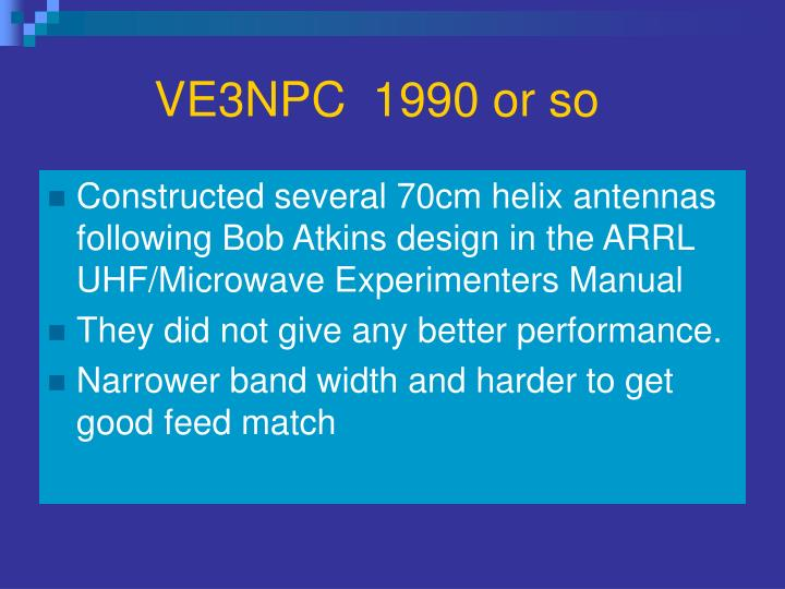 VE3NPC  1990 or so