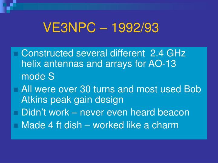 VE3NPC – 1992/93