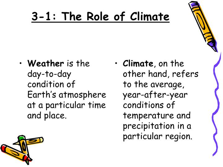 3 1 the role of climate