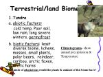 terrestrial land biomes