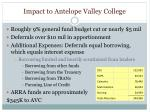 impact to antelope valley college