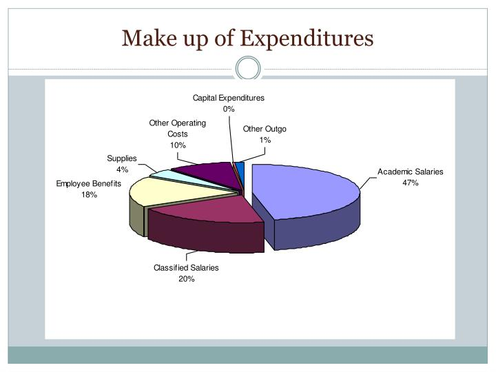 Make up of Expenditures