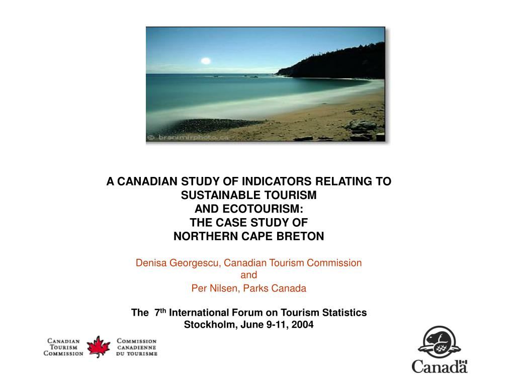 A CANADIAN STUDY OF INDICATORS RELATING TO