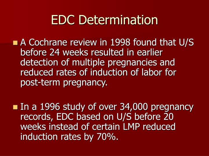 EDC Determination