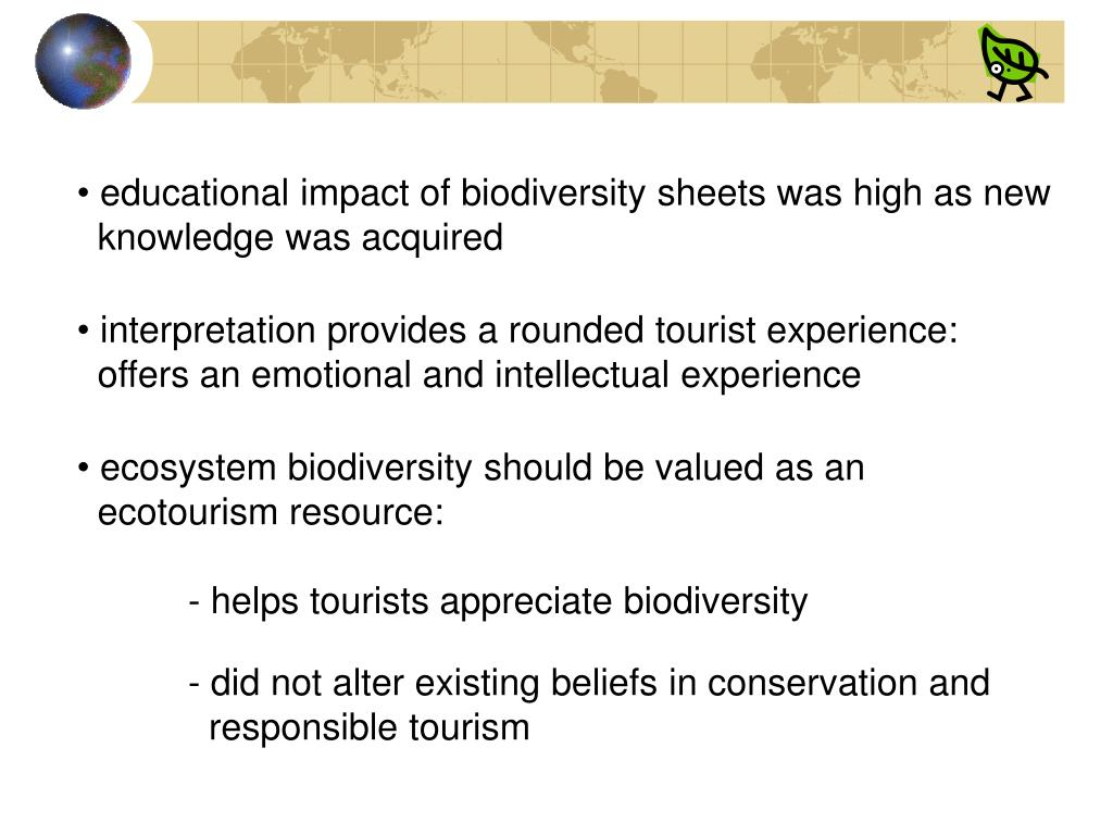 educational impact of biodiversity sheets was high as new