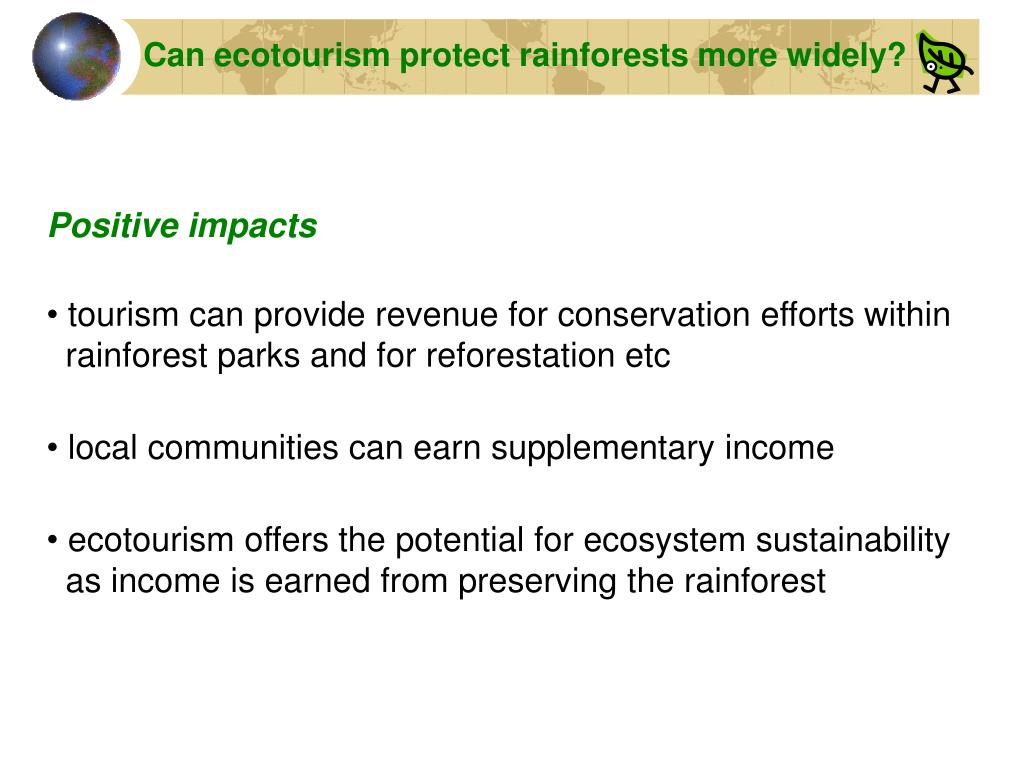 Can ecotourism protect rainforests more widely?