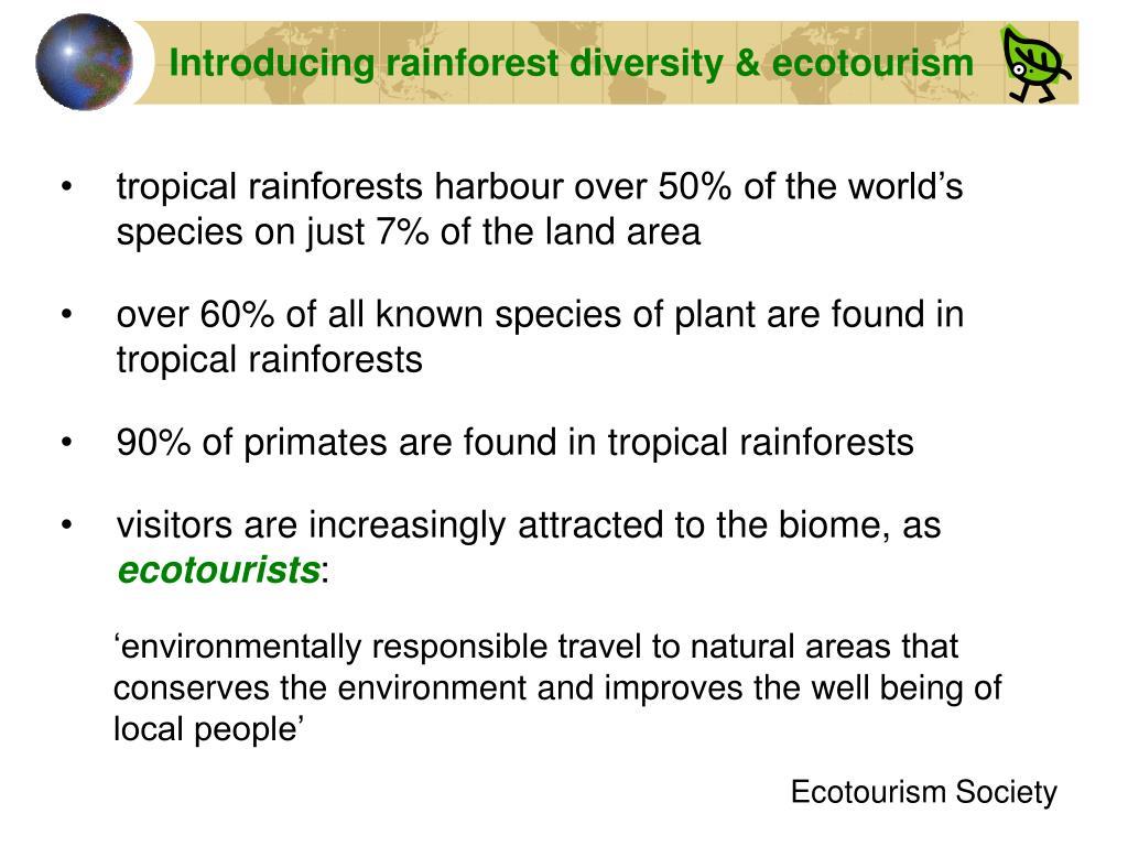 Introducing rainforest diversity & ecotourism
