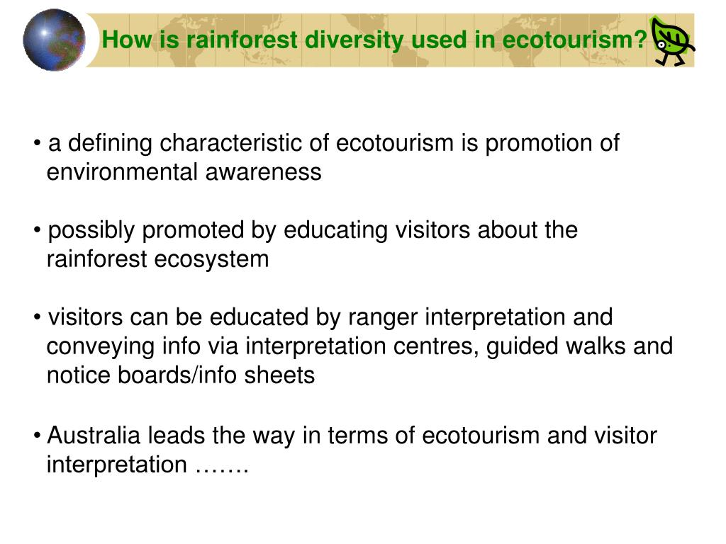 How is rainforest diversity used in ecotourism?