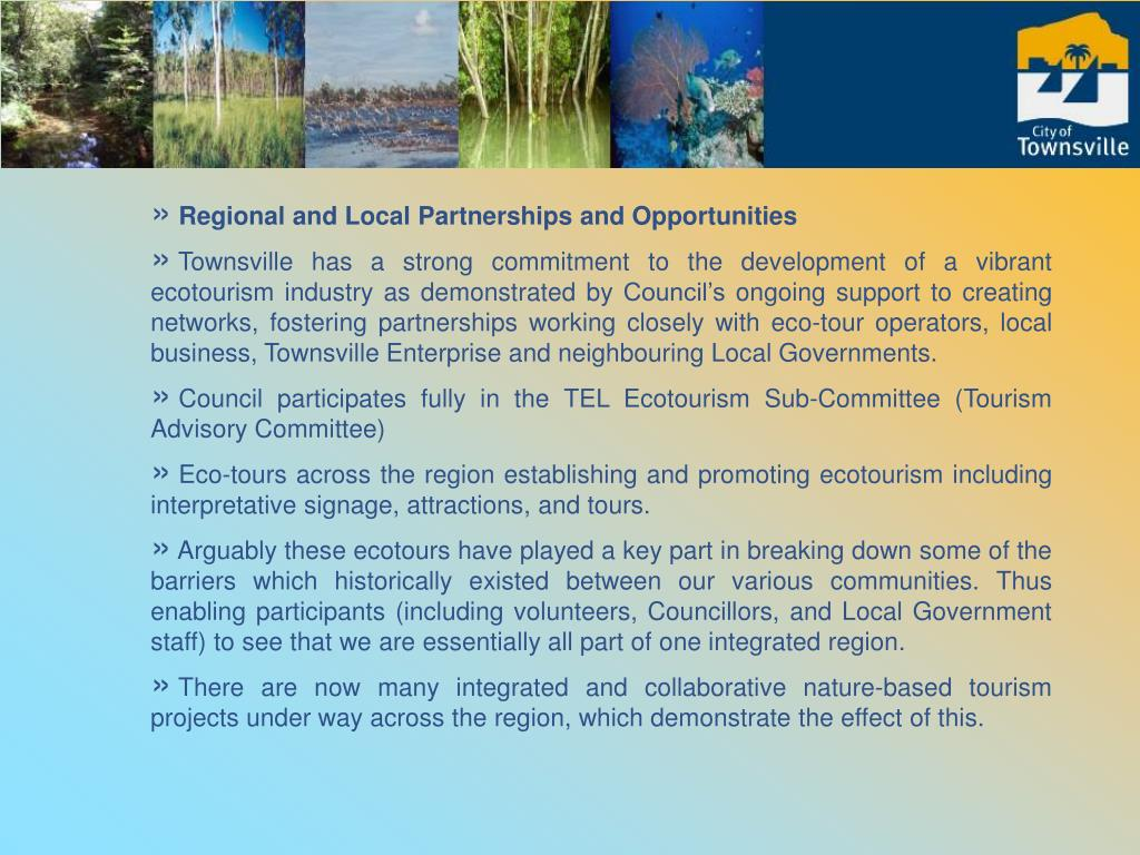 Regional and Local Partnerships and Opportunities