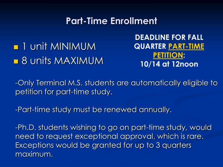 Part-Time Enrollment