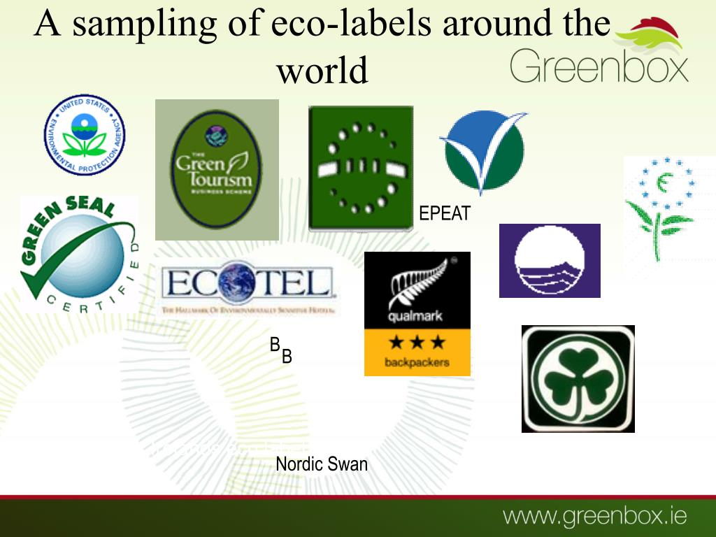 A sampling of eco-labels around the world