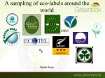 a sampling of eco labels around the world