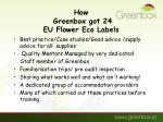 how greenbox got 24 eu flower eco labels