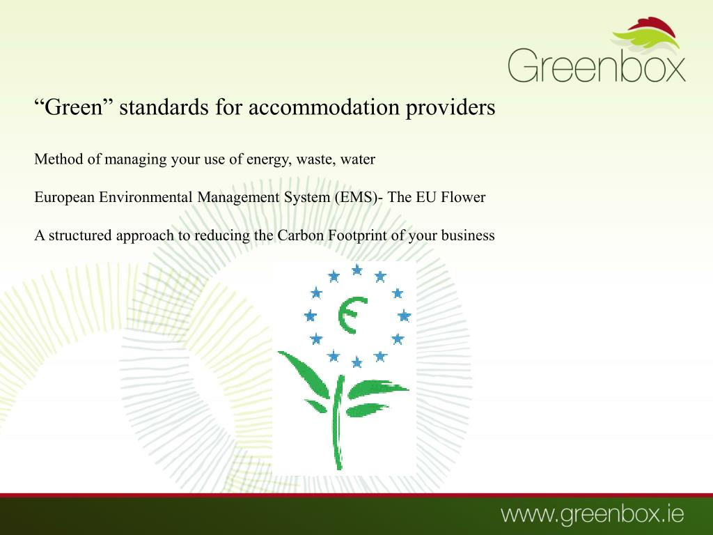 """Green"" standards for accommodation providers"
