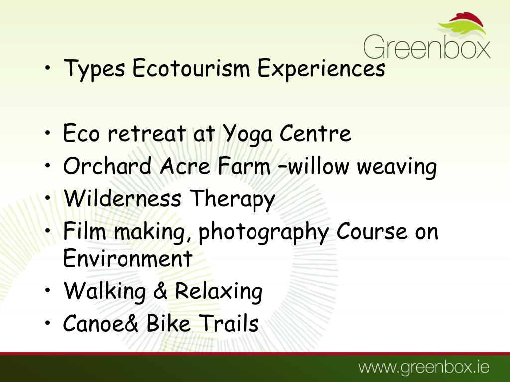 Types Ecotourism Experiences