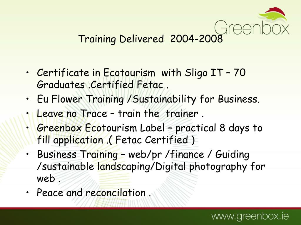 Training Delivered  2004-2008