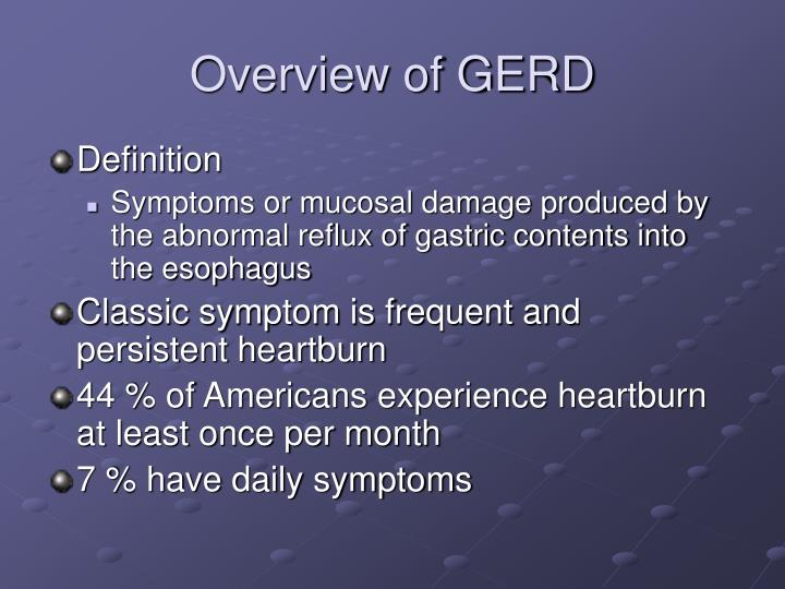 Overview of GERD