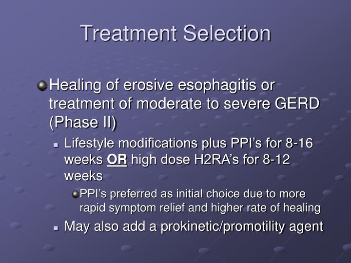 Treatment Selection