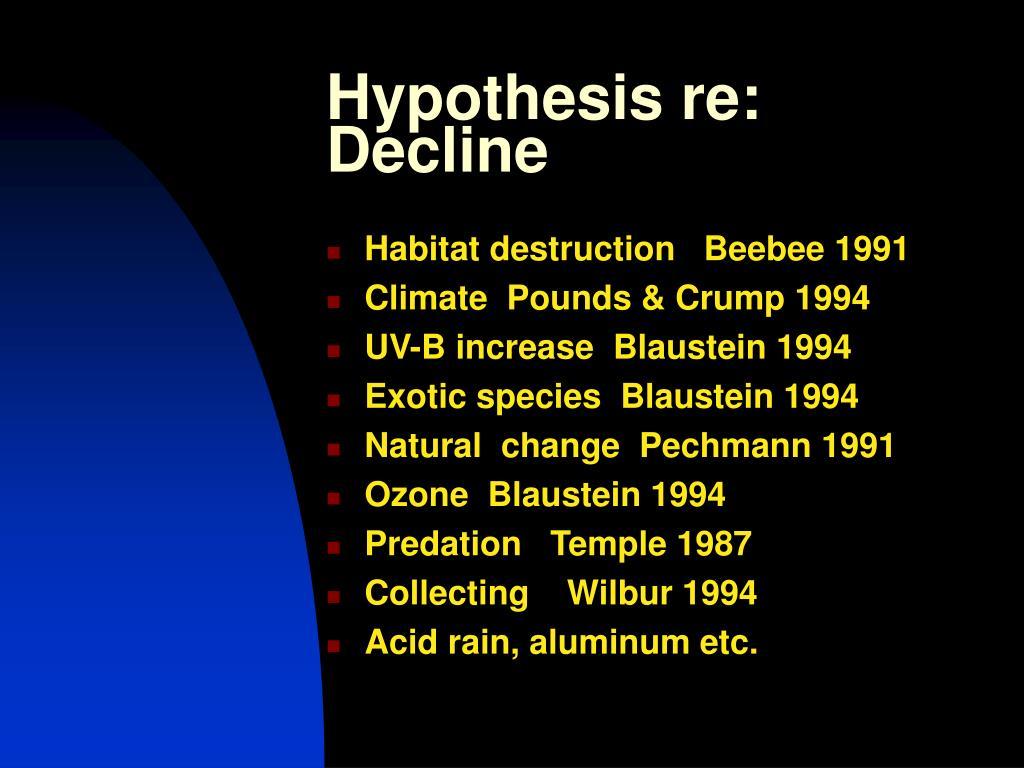Hypothesis re: Decline