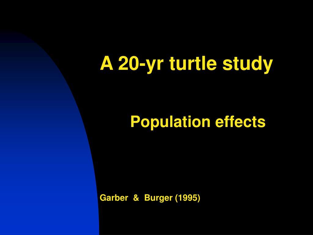 A 20-yr turtle study