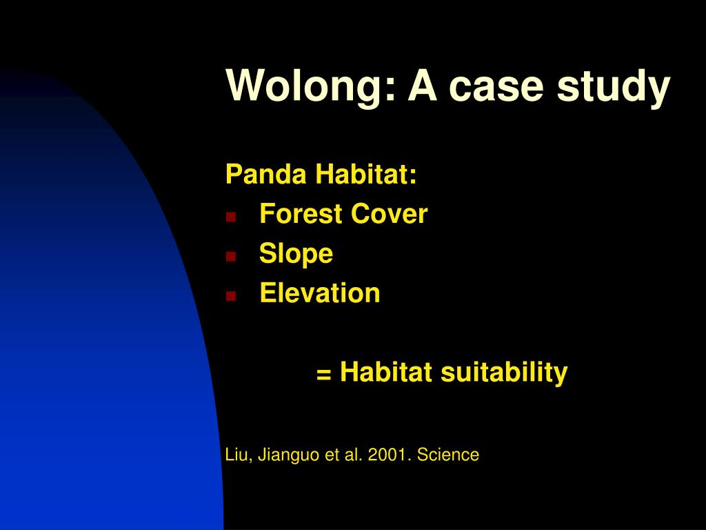 Wolong: A case study