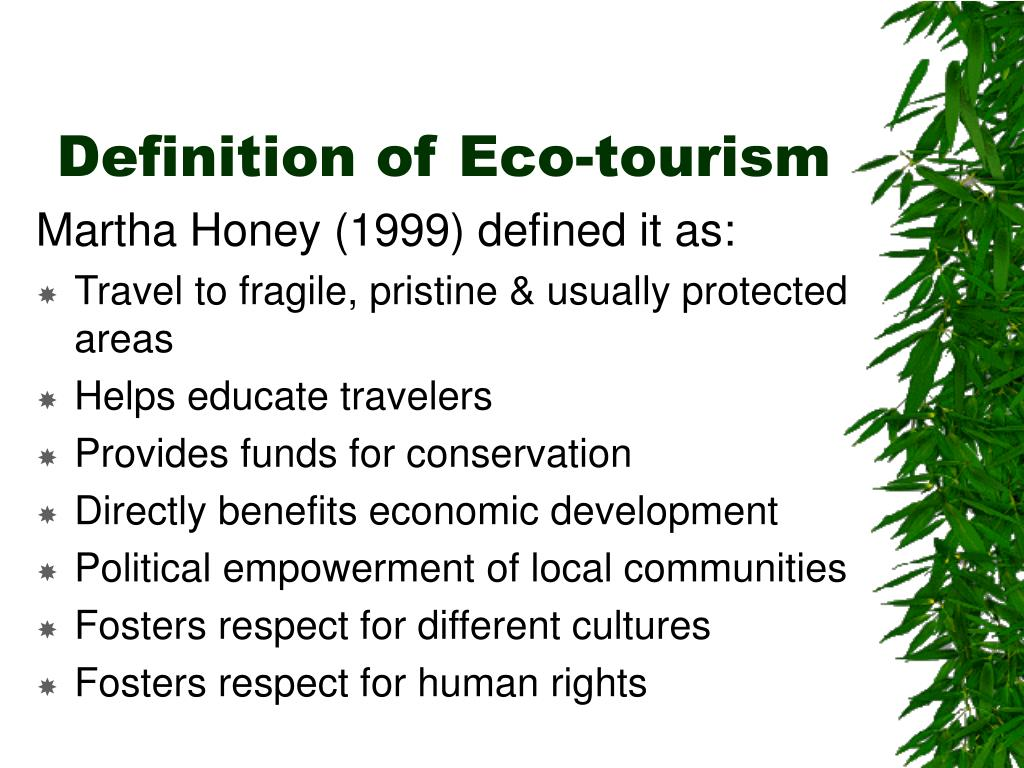 Definition of Eco-tourism