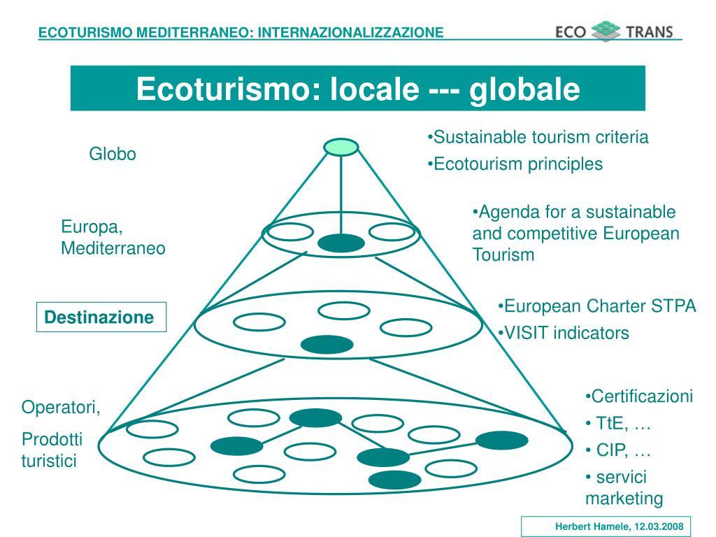 Ecoturismo: locale --- globale