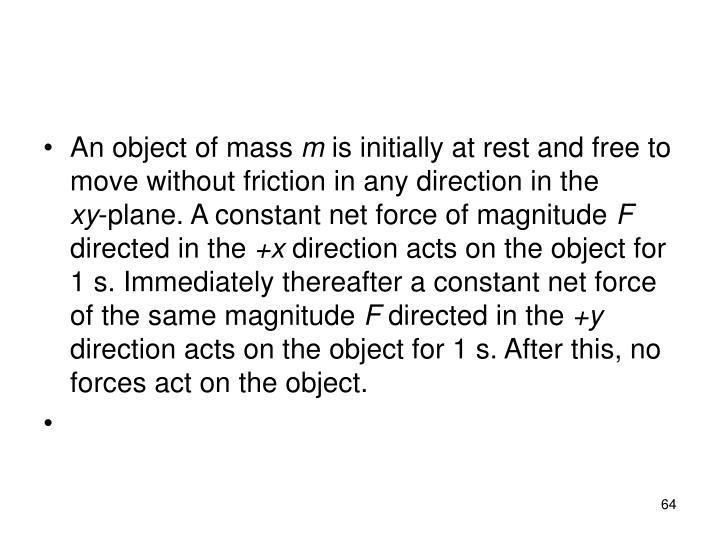 An object of mass