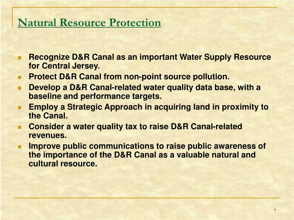 Natural Resource Protection