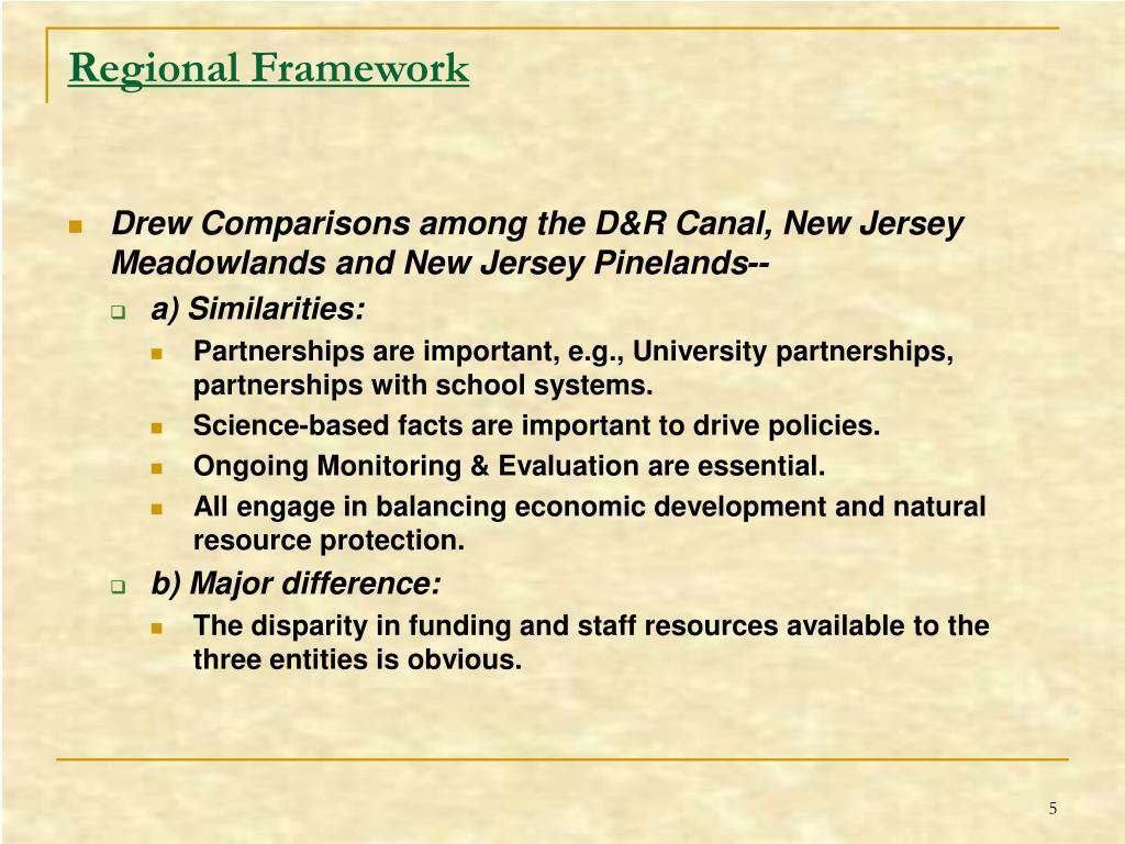 Regional Framework