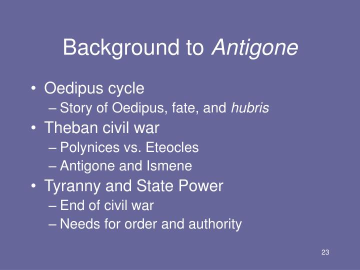 antigone individual vs state It was reminder to remain strong and defiant, because, in the end, the conflict between the state and the individual was as relevant then as it is now antigone was written by sophocles around 441 bc.