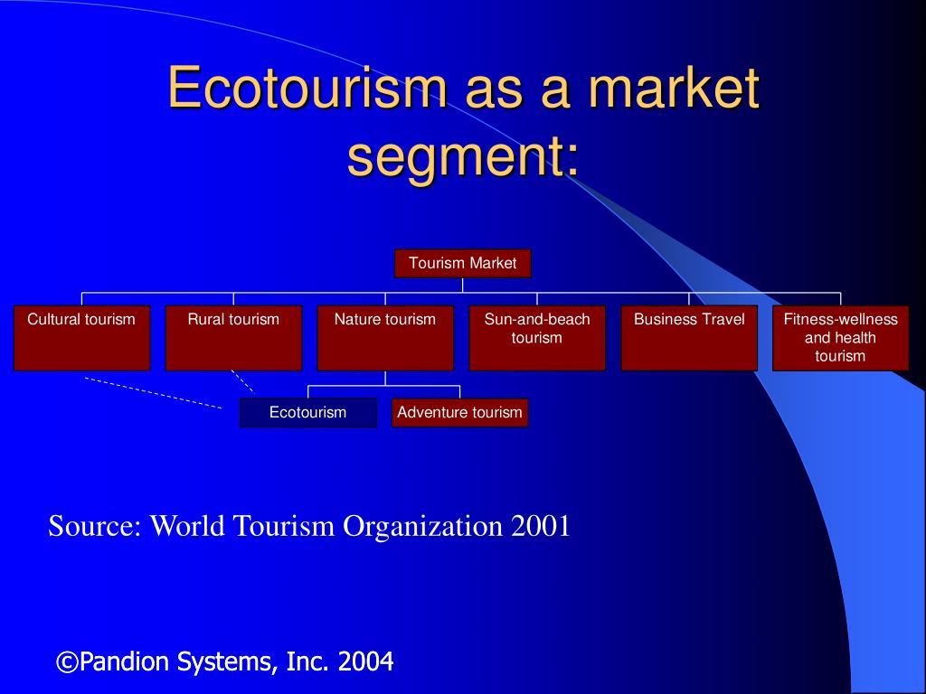 Ecotourism as a market segment: