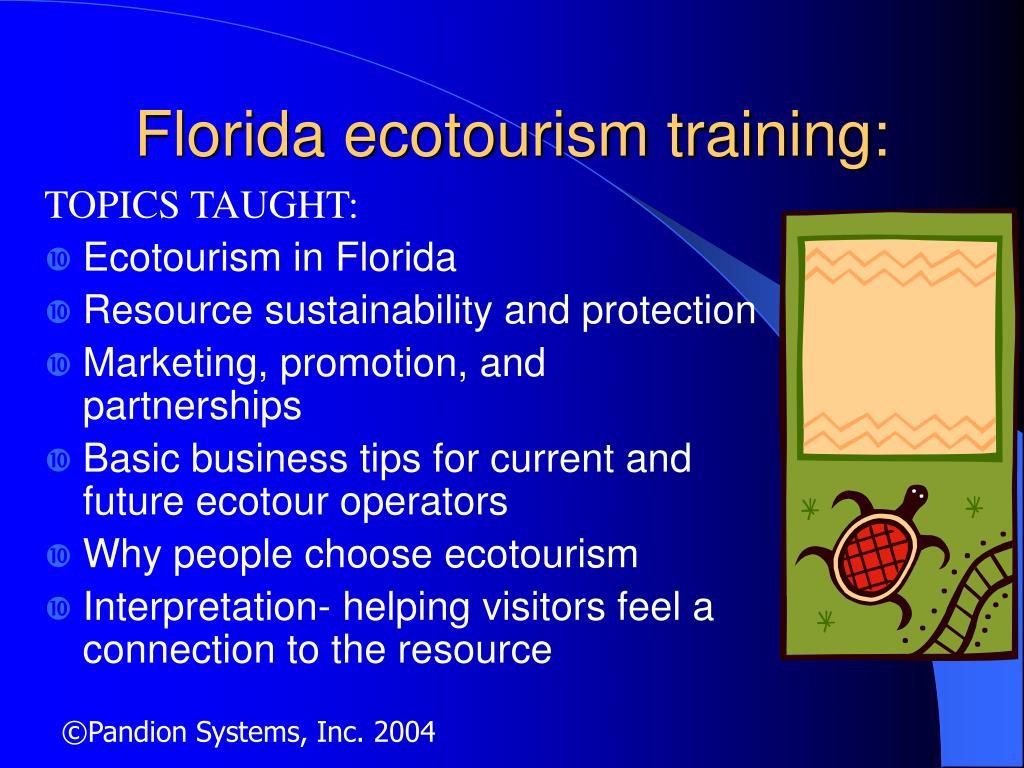 Florida ecotourism training: