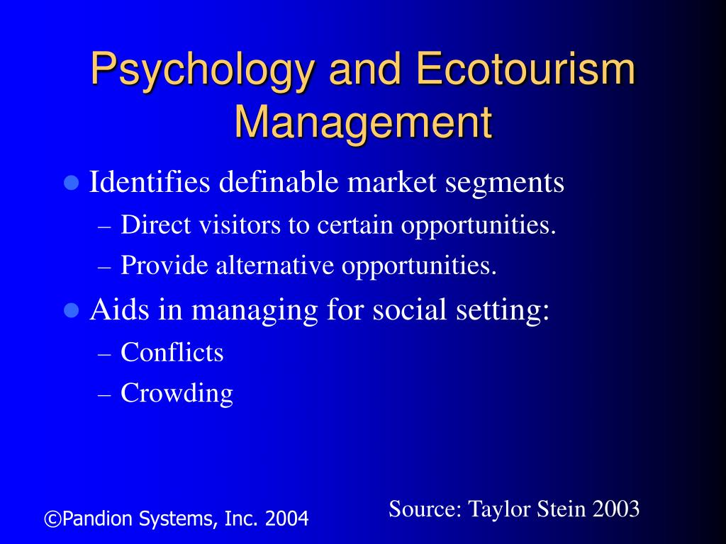 Psychology and Ecotourism Management