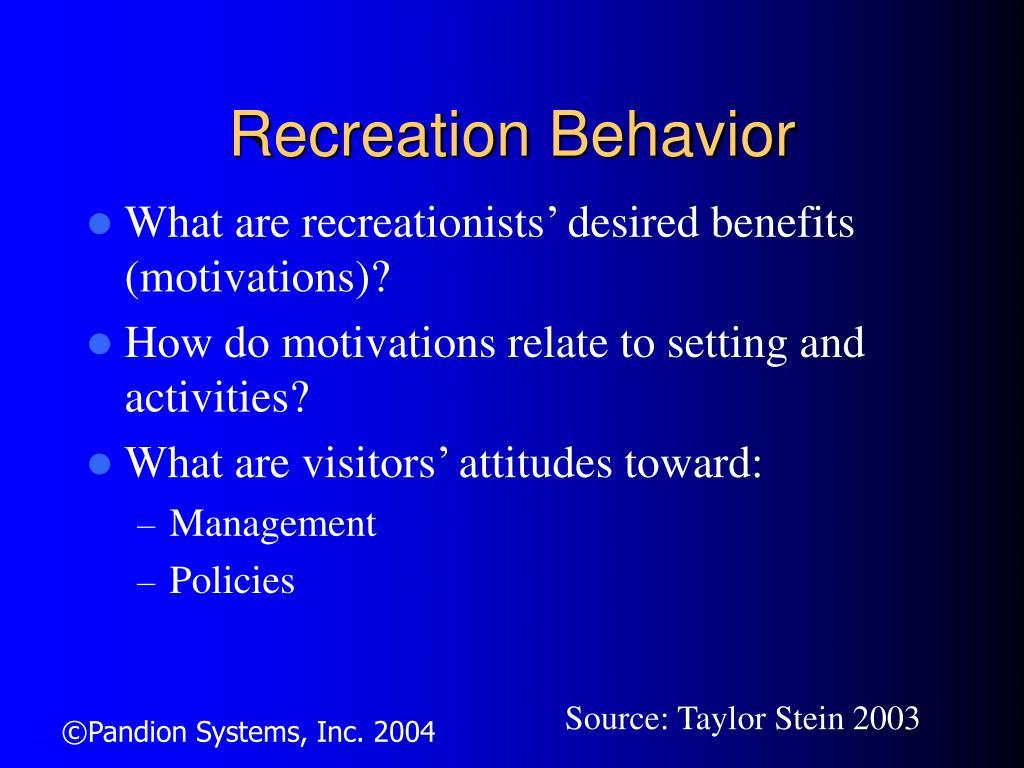 Recreation Behavior