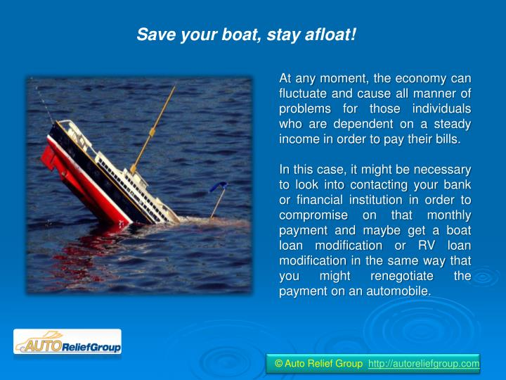 Save your boat, stay afloat!
