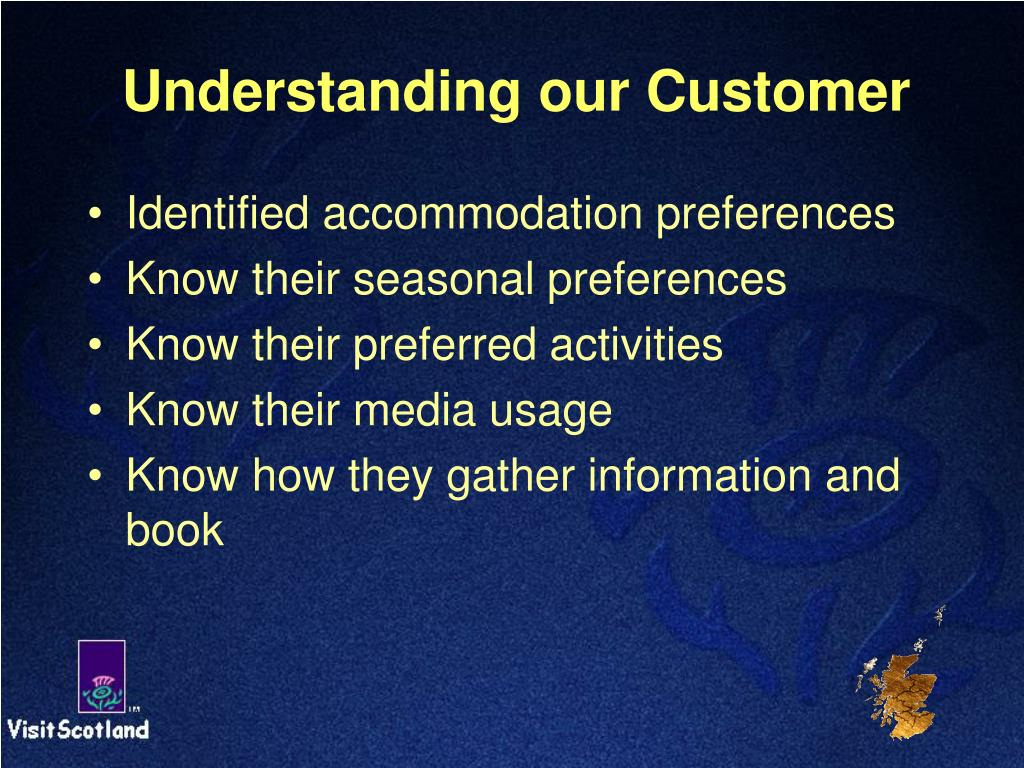 Understanding our Customer