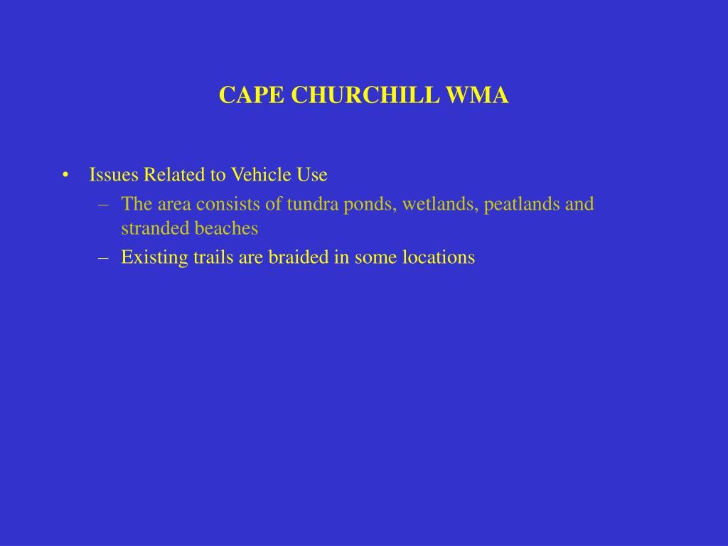 CAPE CHURCHILL WMA
