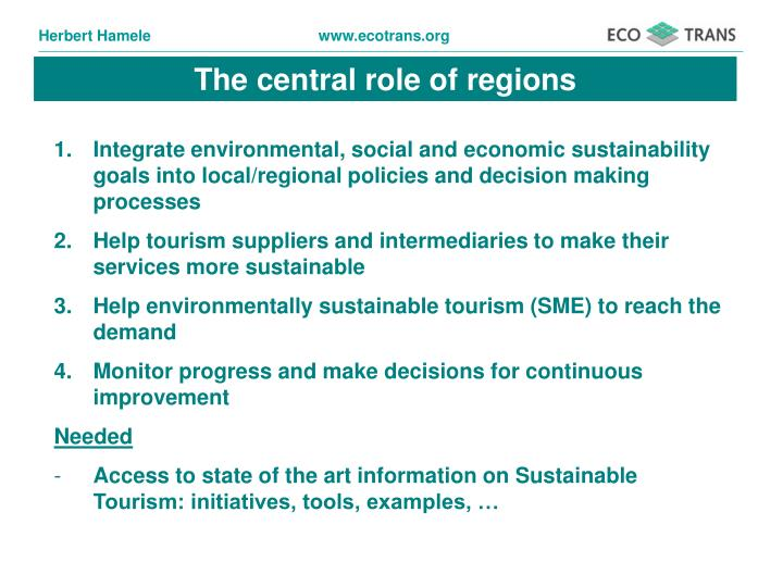 The central role of regions