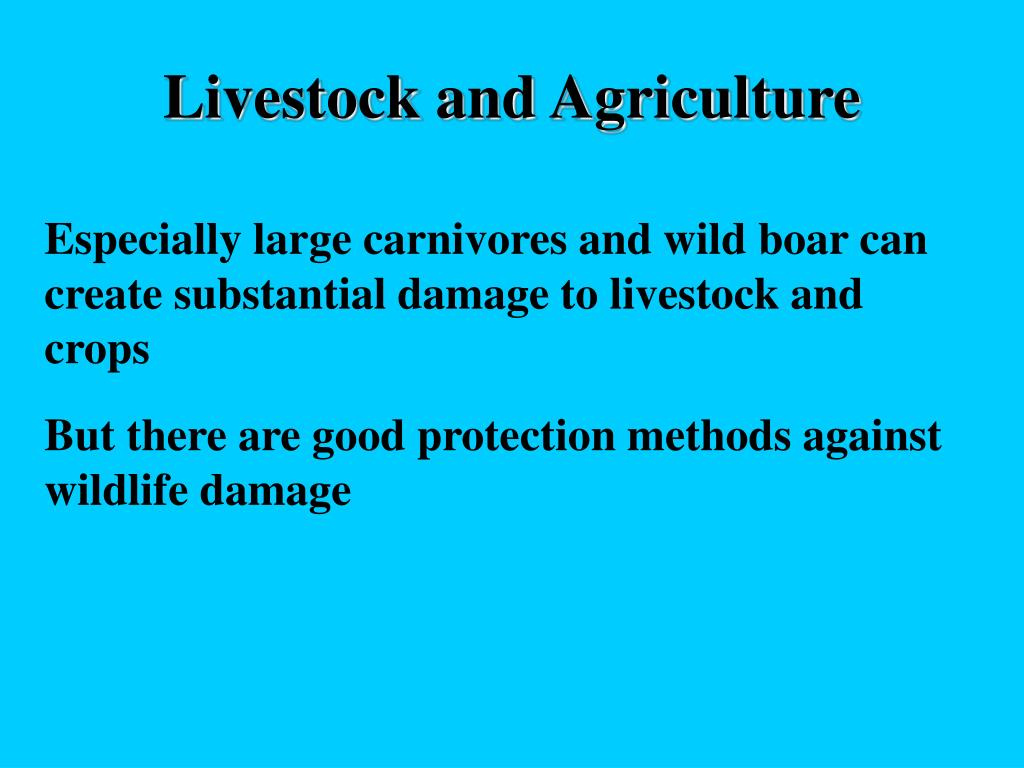 Livestock and Agriculture