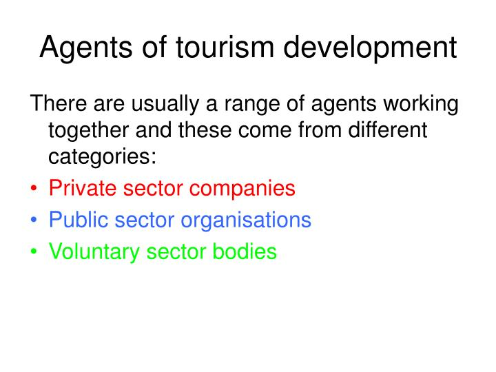Agents of tourism development3