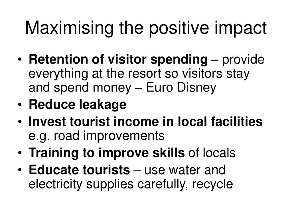 Maximising the positive impact