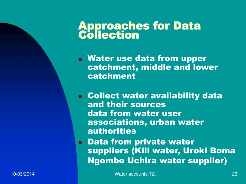 Approaches for Data Collection