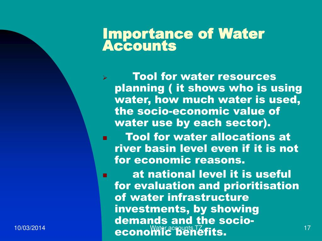 Importance of Water Accounts