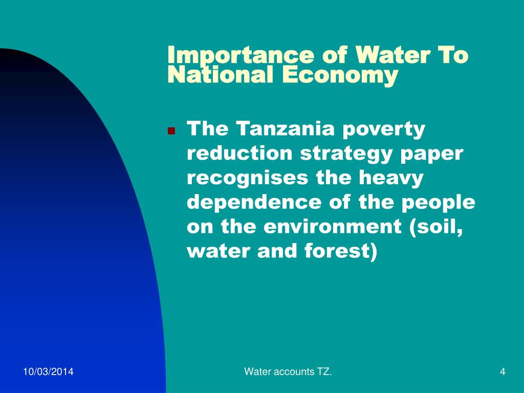 Importance of Water To National Economy