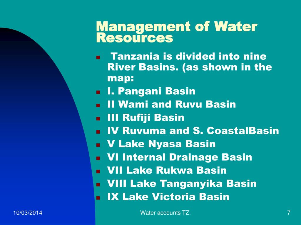 Management of Water Resources